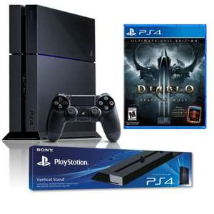 Pack console PS4 - 1 To Noire + Diablo 3 + Présentoir vertical