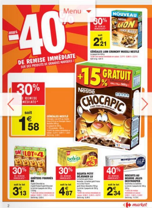 Paquet de céréales Nestlé Chocapic 500g (via bon de réduction)
