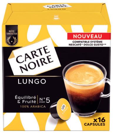 16 capsules de caf carte noire compatible dolce gusto plusieurs vari t s via bdr. Black Bedroom Furniture Sets. Home Design Ideas