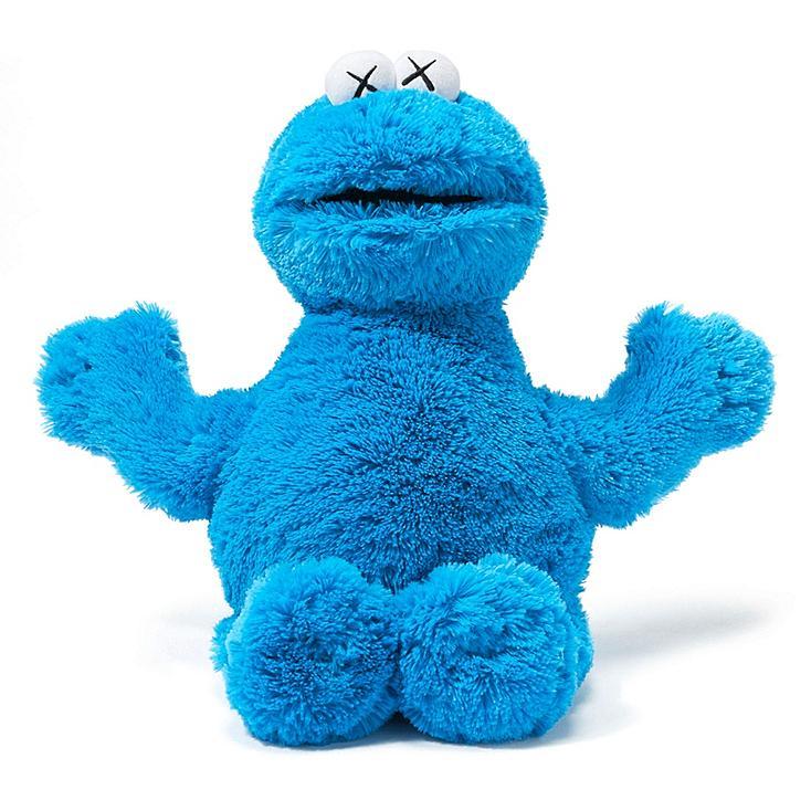 Peluche Cookie Monster Kaws X Sesame Street