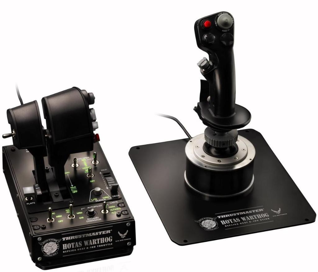 Ensemble joystick + double manette des gaz + panneau de contrôle pour simulateur de vol Thrustmaster Hotas Warthog