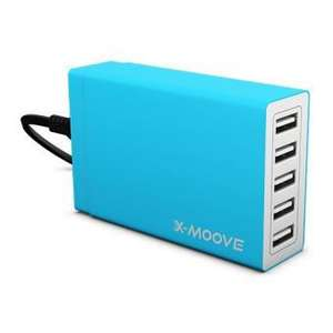 Chargeur X-moove USB ChargeMaster 5 - 40W 8A - 5 ports USB