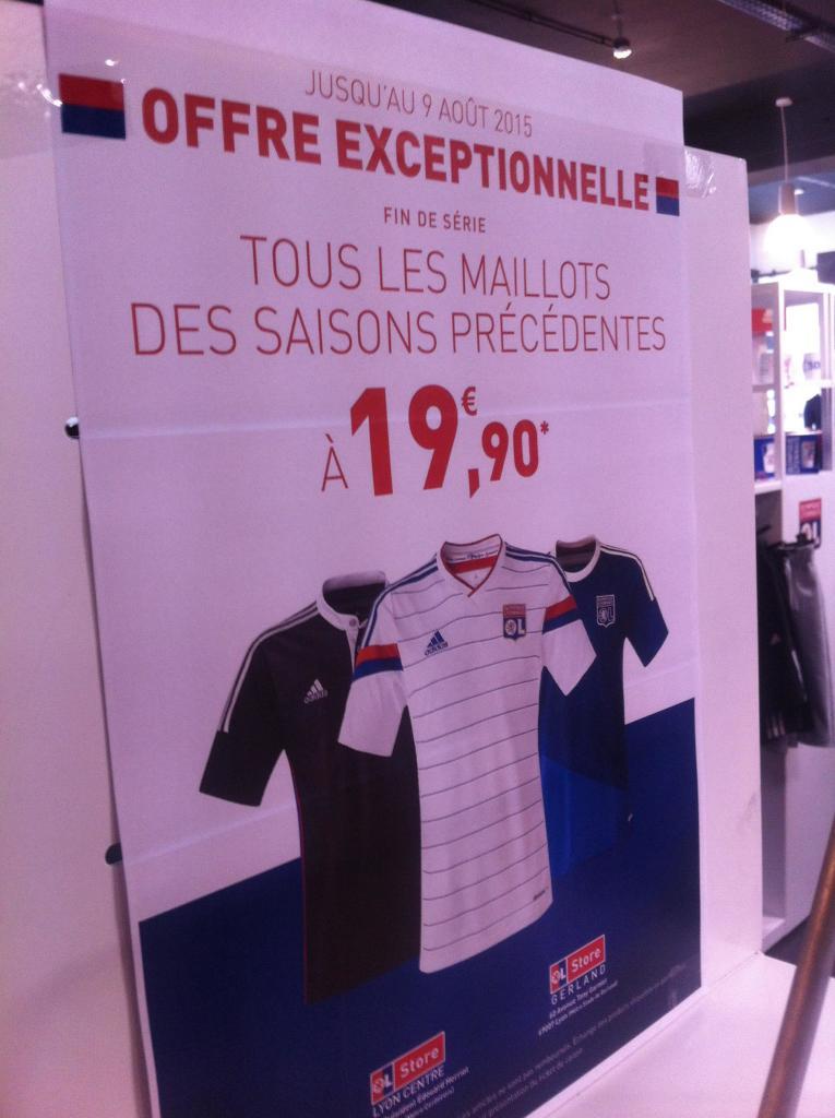 Maillot OL Olympique Lyonnais 2014 et 2015
