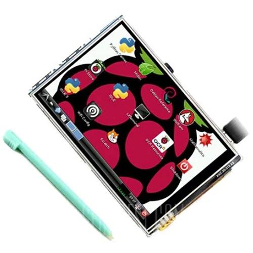 "Écran tactile 3.5"" pour mini-PC Raspberry Pi 3B / B+"
