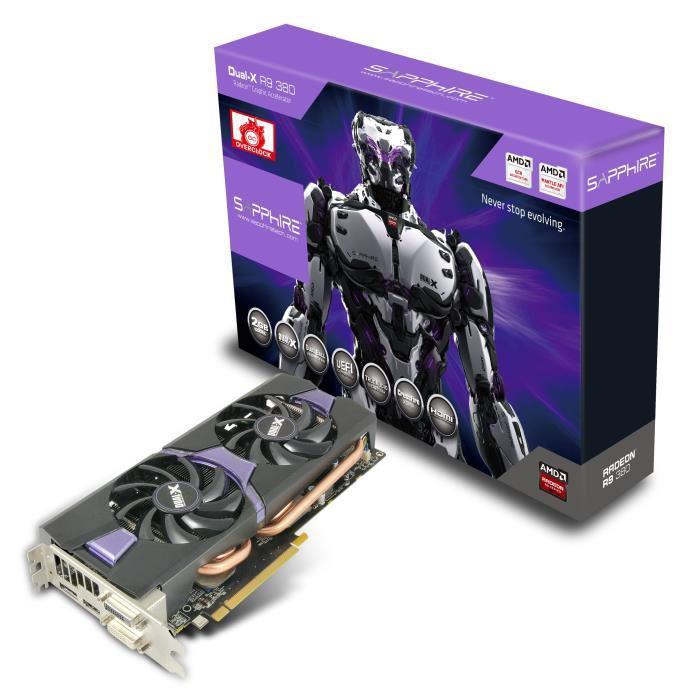 Carte graphique Sapphire Dual-X R9 380 2Go DDR5 OC