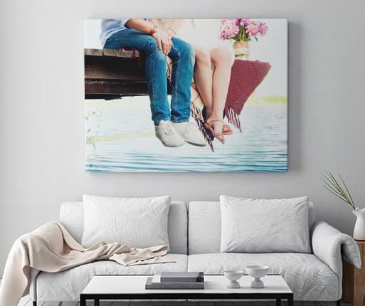 Sélection d'offres en promotion - Ex : Photo sur toile de 120x80cm