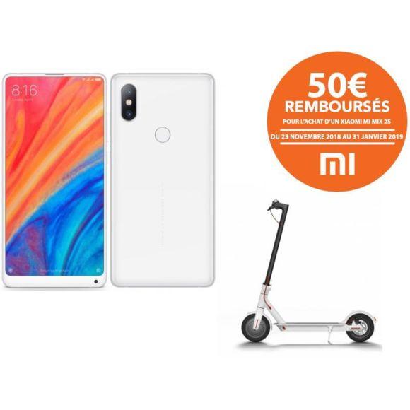 """Smartphone 5.99"""" Xiaomi Mi Mix 2S (Snapdragon 845, RAM 6 Go, ROM 64 Go) + Trottinette électrique Xiaomi M365 (via ODR de 50€)"""