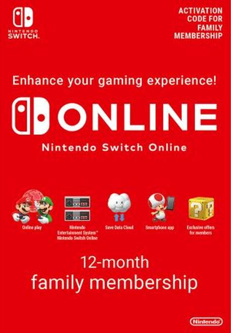 Code Abonnement Famille Nintendo Switch Online (8 Appareils) - 12 Mois (Dématérialisé)