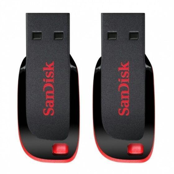 Pack 2 Clés USB SanDisk Cruzer Blade - 32Go
