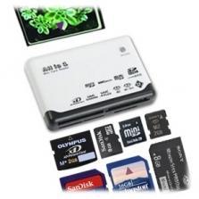 Lecteur de Carte Tout-en-Un multi-fente pour cartes mémoire SD/SDHC MicroSD/HC CF Mini SD M2 XD