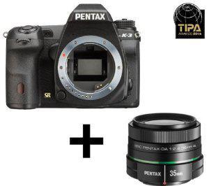 Appareil photo Reflex Pentax K-3 - 24 Mpix Kit Objectif 2.4-35 mm - Noir