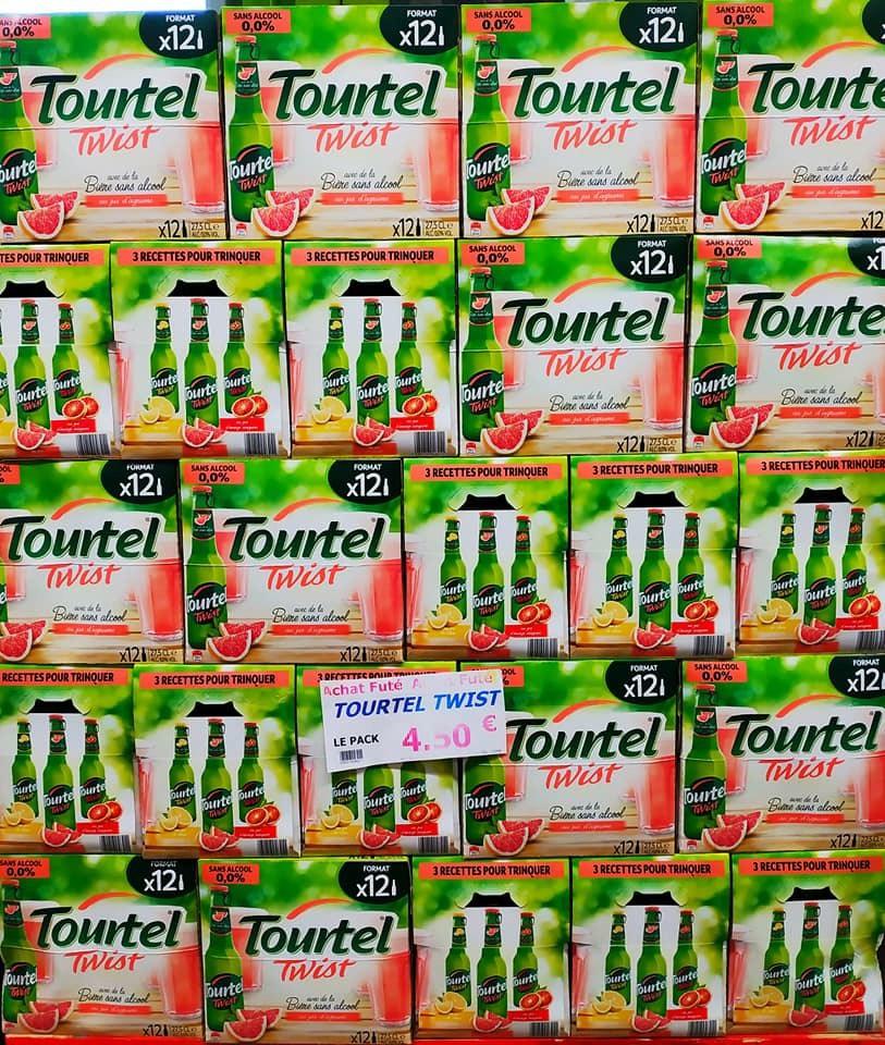Pack de 12 bières sans-alcool Tourtel Twist Citron ou Orange-Pamplemousse - Marguerite Savigny-le-Temple (77)