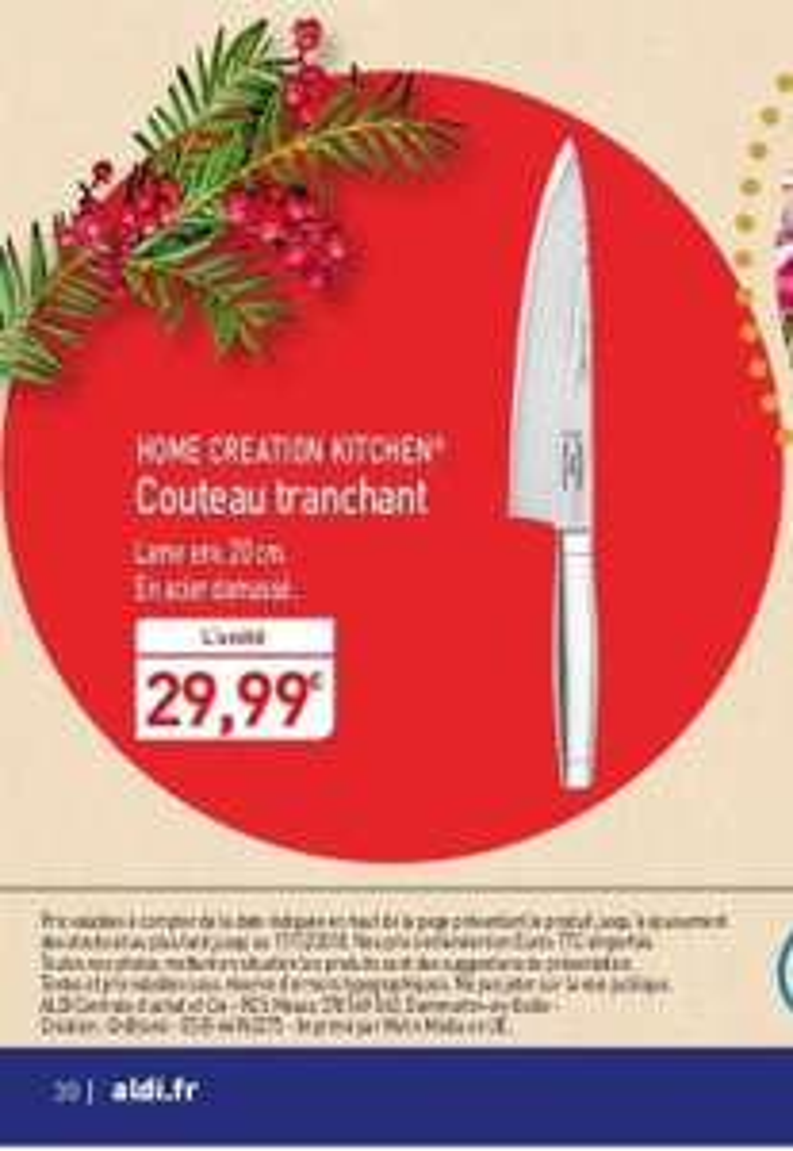 Couteau acier damassé Home Creation Kitchen