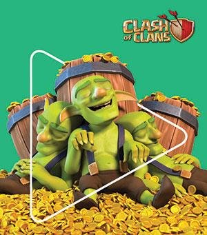 Bonus en jeu Clash of Clans pour l'achat de cartes Google Play
