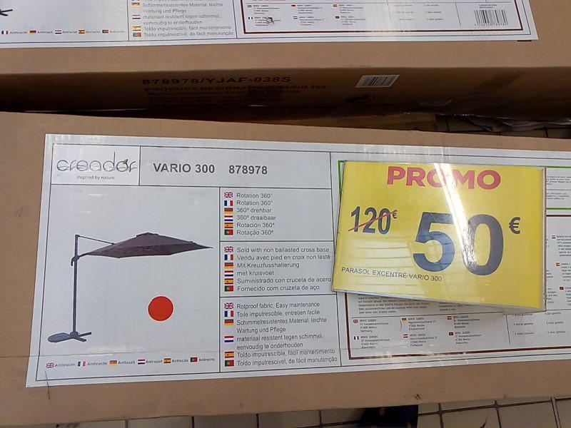 Parasol rond excentré  Vario 300