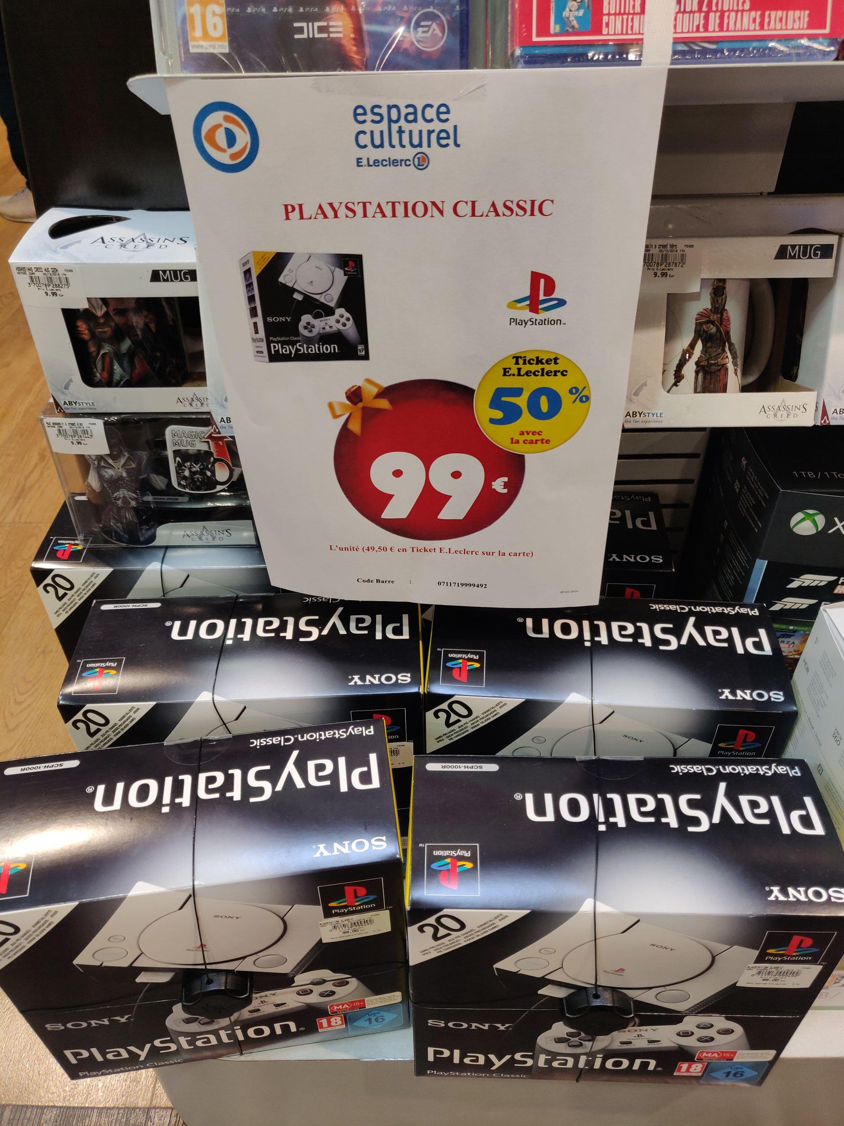 Console Sony PlayStation PS1 Classic (via 49,50€ sur la carte de fidélité) - Le Luc (83)