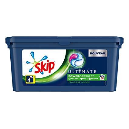 Paquet de 26 capsules de lessive liquide Skip Ultimate Trio - différents types (via 4.85€ en fidélité + BDR) - Castanet-Tolosan (31)
