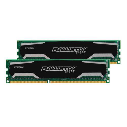 Kit Ram 8 Go (2 x 4 Go)   DDR3 Crucial Ballistix Sport, 1600 MHz, CAS 9
