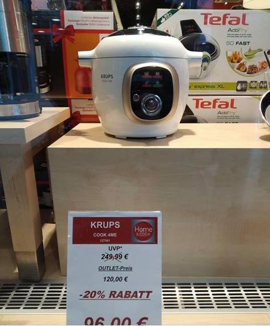 Multicuiseur Cookeo Krups CZ7001 - Home & Cook à l'Outlet de Zweibrücken (Frontaliers Allemagne)