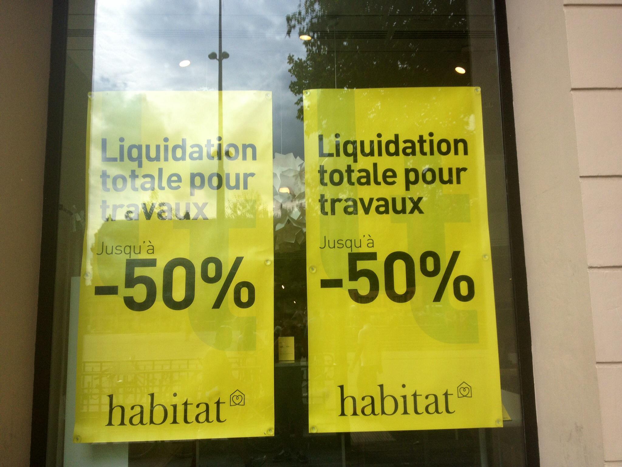 Jusqu'à 50% de réduction sur tous les articles (Liquidation pour travaux)
