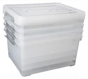 Lot de 4 boîtes rangement Allibert HandyBox - 35 L, 49 x 39 x 25cm