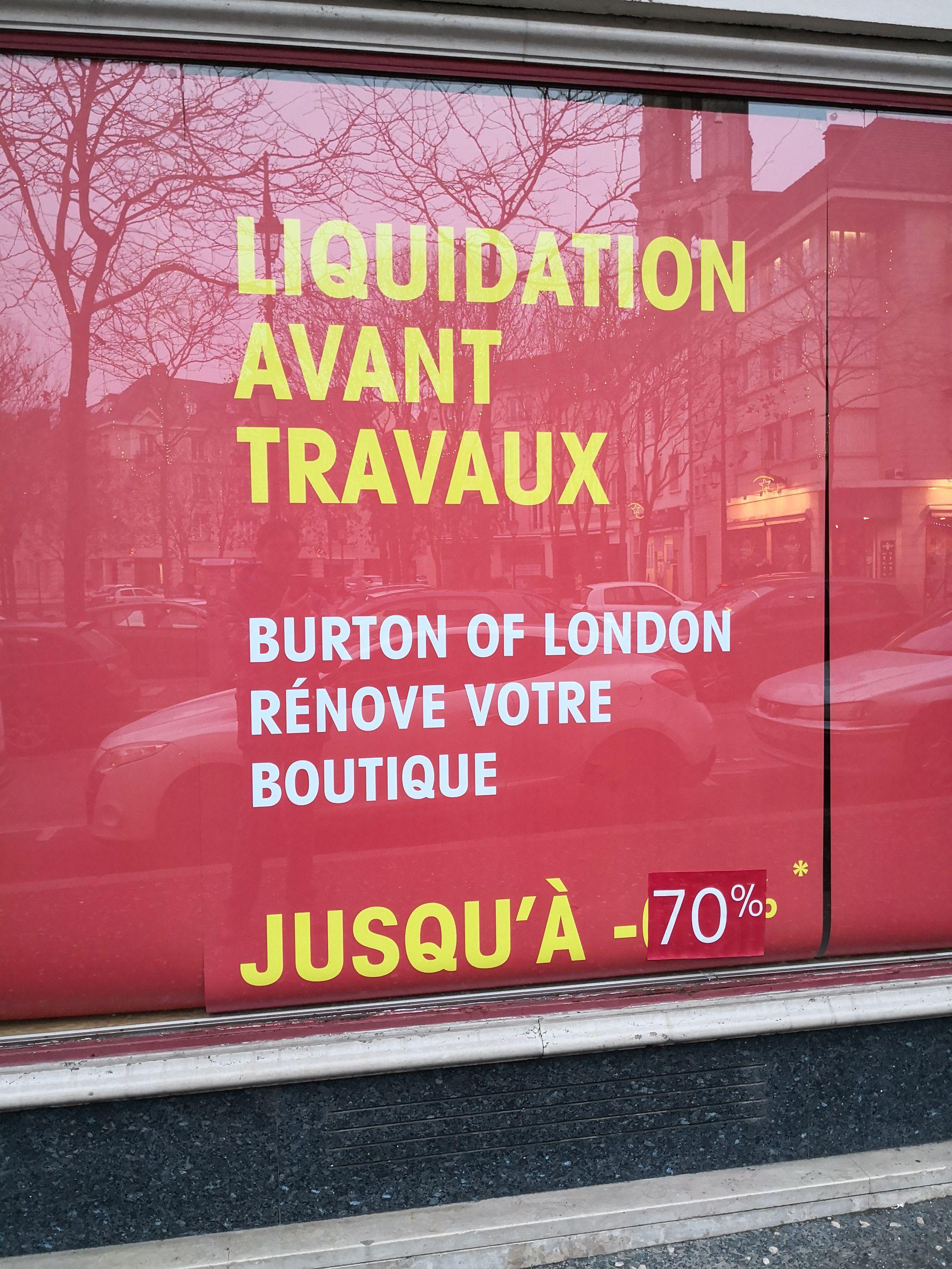 Jusqu'à 70% de réduction sur tout le magasin  - Mantes la Jolie (78)