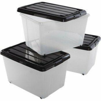 Lot de 3 boites plastique Roller Box 50L