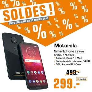 "Smartphone 5,9"" Motorola Z3 Play (Frontaliers Luxembourg)"