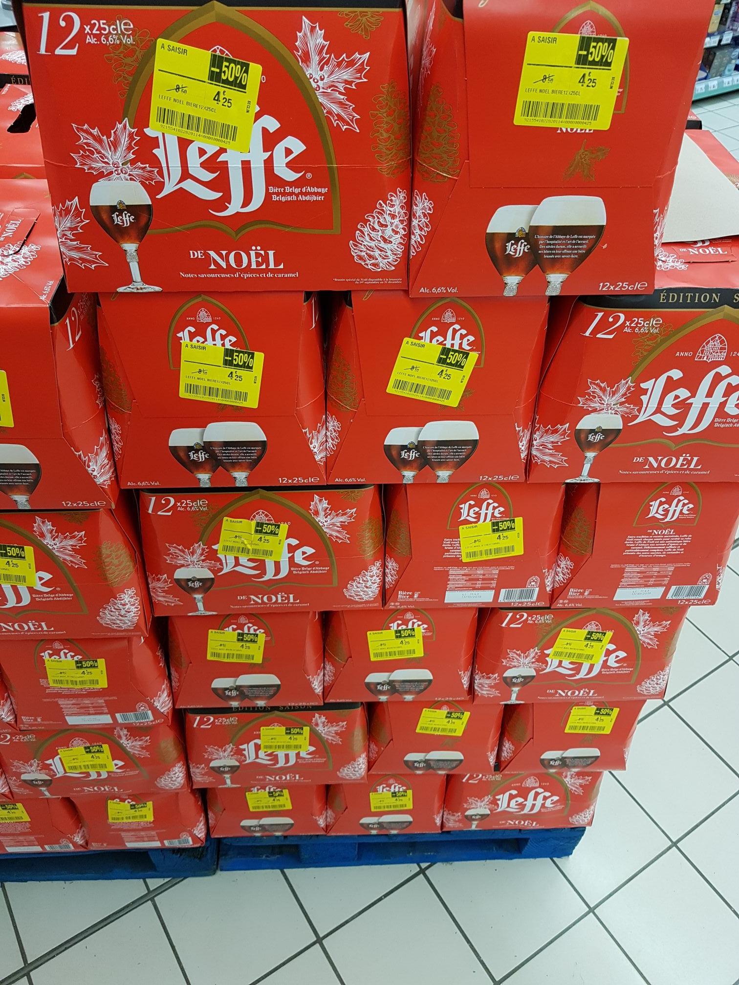 Pack de 12 bières de Leffe de noël - 12 x 25cl (Seclin - 59)