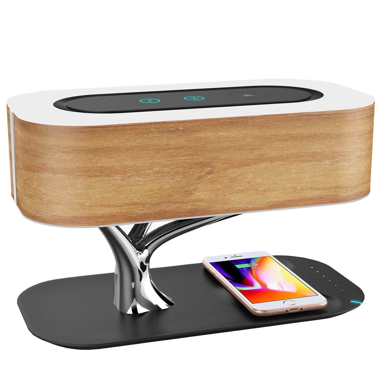 lampe de chevet ampulla avec enceinte bluetooth et chargeur sans fil pour smartphone vendeur. Black Bedroom Furniture Sets. Home Design Ideas