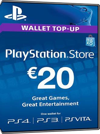 Carte Playstation Network PSN pour PS4 - Montant 20€