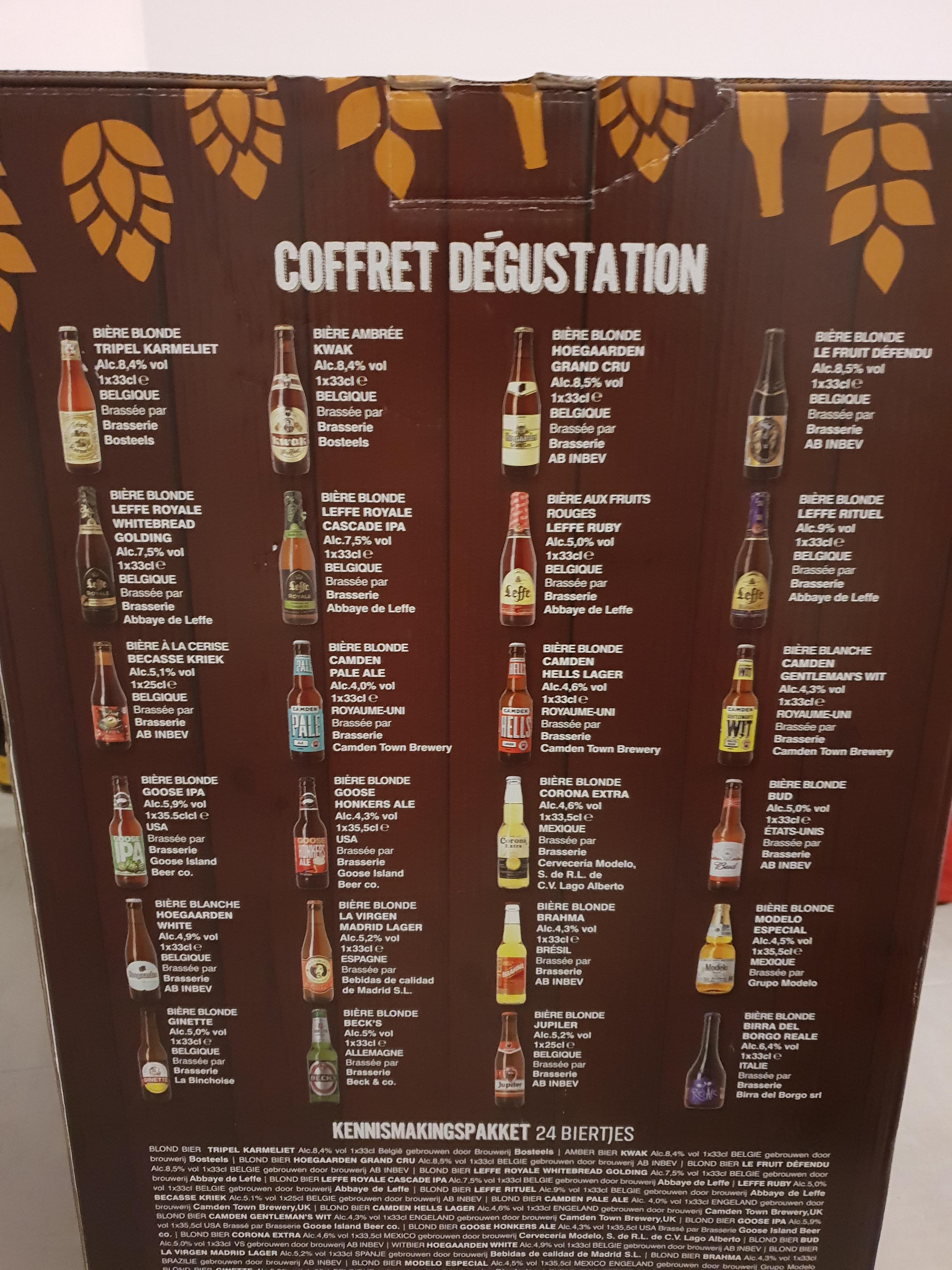 Coffret dégustation de 24 bières (Calendrier de l'avent) - Le Mans (72)