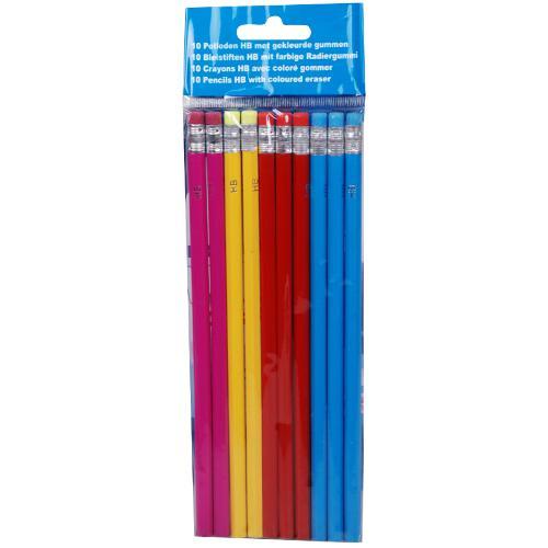 Lot de 10 crayons de bois