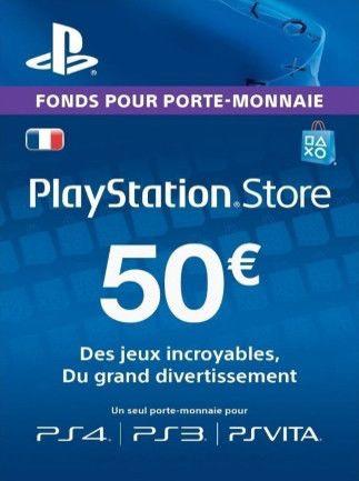 Carte PlayStation Network PSN d'une valeur de 50€ (Dématérialisé)