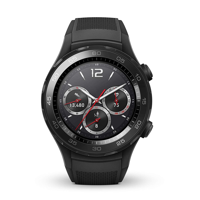 Montre GPS sport connectée Huawei Watch 2 Sport pour Android et IOS - Noir version BT