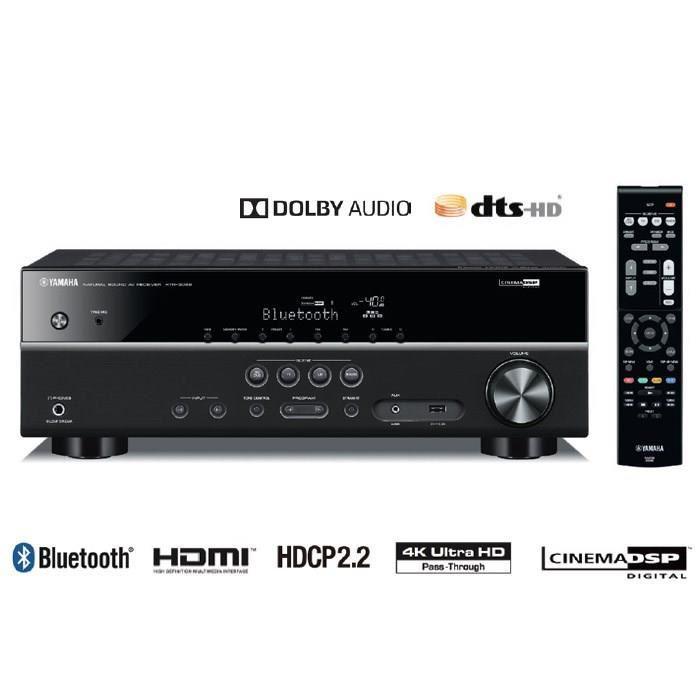Sélection d'amplificateurs Yamaha Tuner Audio vidéo 5.1 en promo - Ex :  Amplificateur Yamaha HTR-3068 bluetooth
