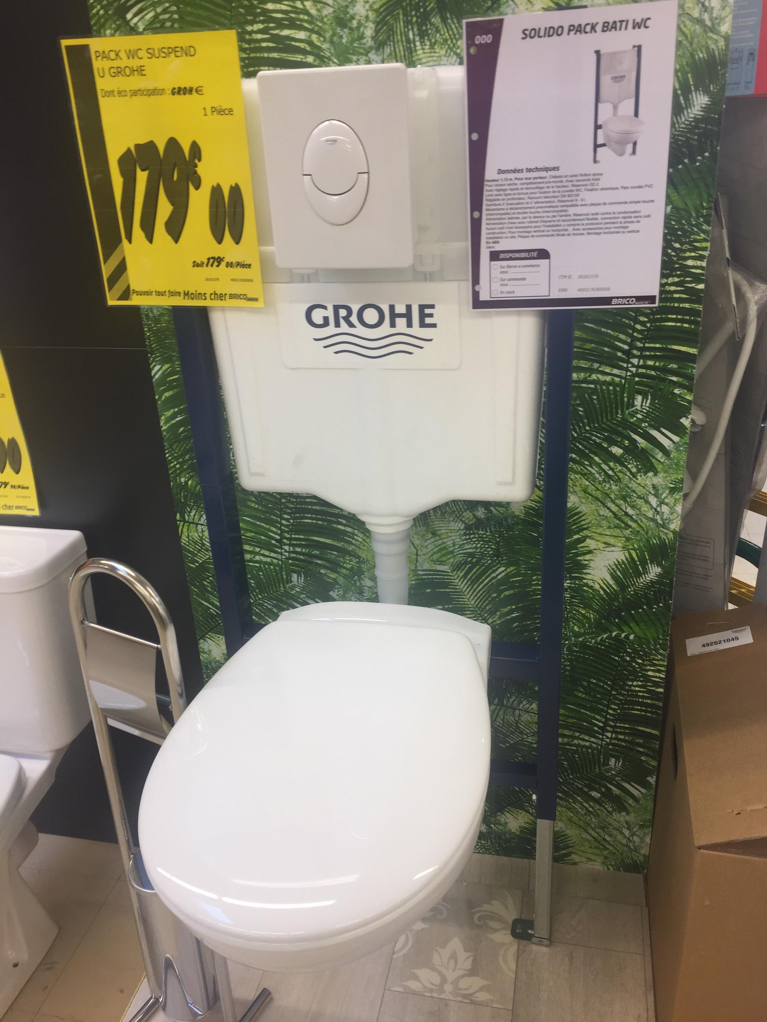 Pack WC suspendu Grohe Solido Bati - Saint-Marcel (27)
