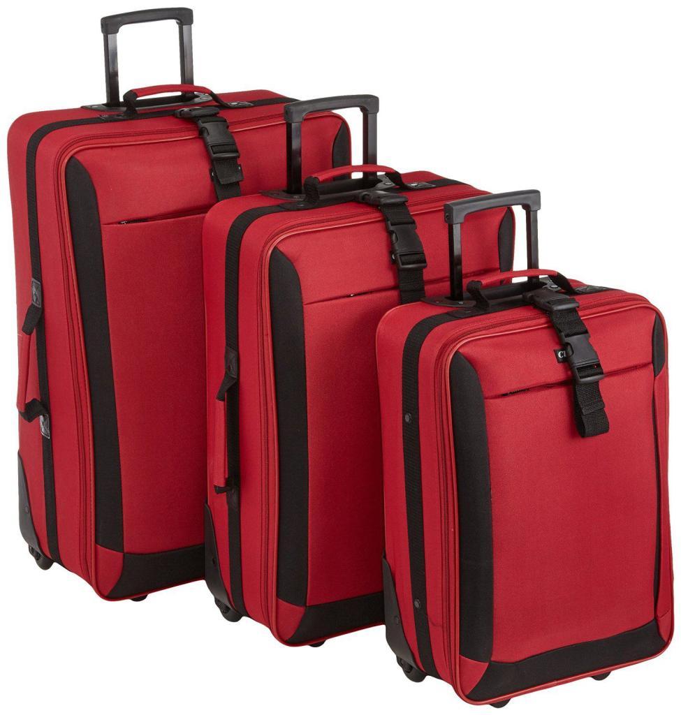 Set de 3 valises Clipper 82 litres - Rouge