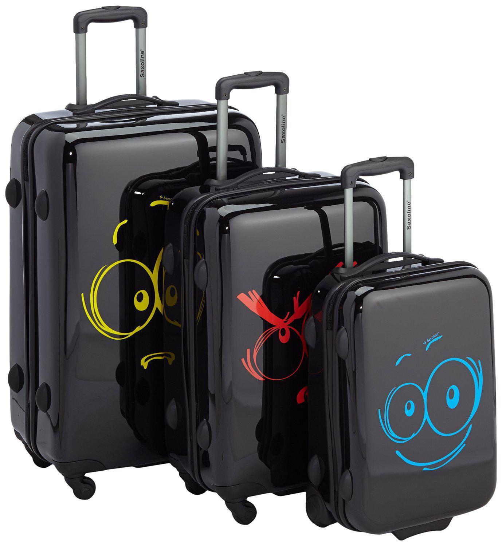 Sélection de valises Saxoline en promotion - Ex : Set de 3 valises Saxoline 1323H0.17.06 Noir