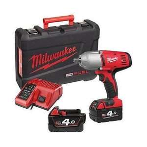 Boulonneuse à chocs sans fil Milwaukee 1/2'' 610Nm 18V Li-Ion avec 2 batteries 4Ah (en coffret HD18 HIWF-402C)