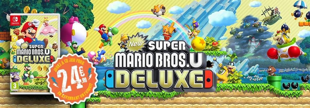 Super Mario Bros U Deluxe sur Nintendo Switch (via reprise d'un jeu ou accessoire parmi une sélection)