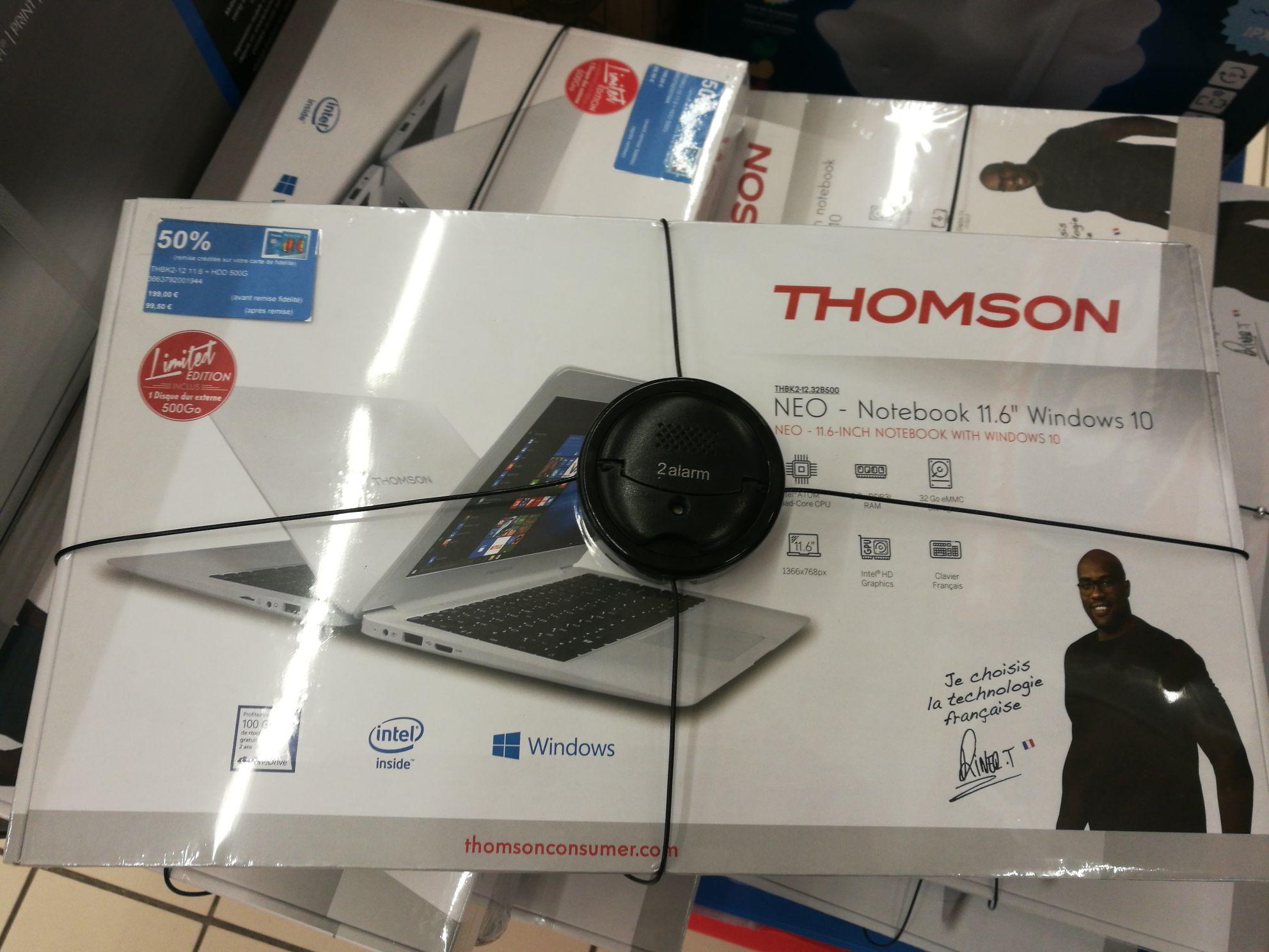 """PC portable 11.6"""" Thomson Neo THBK2-12.32B500 - Z3735F, 2 Go RAM, 32 Go en eMMC (via 99.5€ sur la carte de fidélité) - Saint-Egrève (38)"""