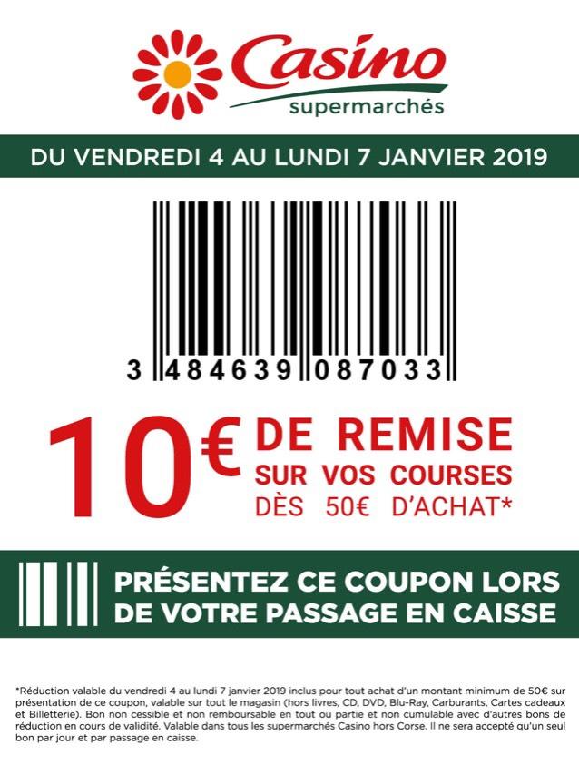 10€ de réduction dès 50€ de courses, 8€ dès 40€ de courses et 5€ dès 25€ de courses