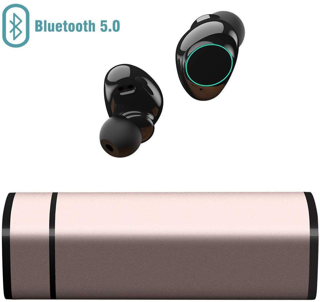 Écouteurs Bluetooth sans-fil Muzili - Étanche avec Micro - Noir (vendeur tiers)