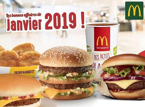 Sélection d'offres promotionnelles - Ex : 1 hamburger Big Mac offert pour l'achat d'un menu Maxi Best Of - Nancy et agglomération (54)