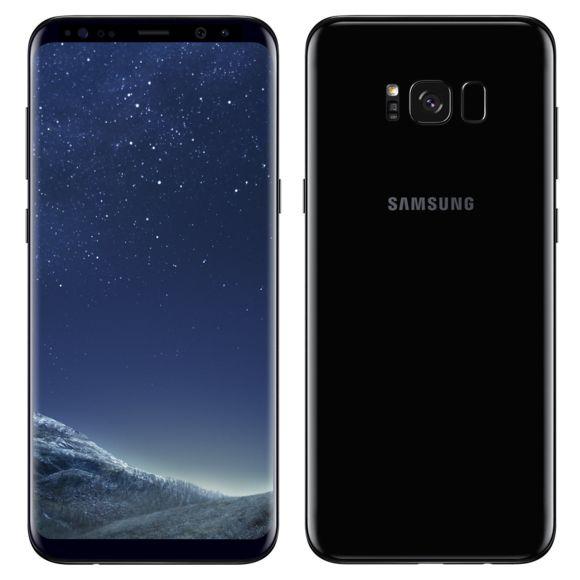 """Smartphone 6.2"""" Samsung Galaxy S8+ Plus - 64 Go, Noir (Reconditionné - Très bon état)"""