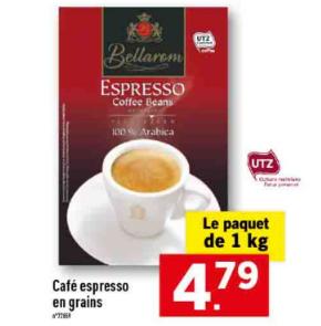 Café Espresso en grains 100% arabica - 1 kg