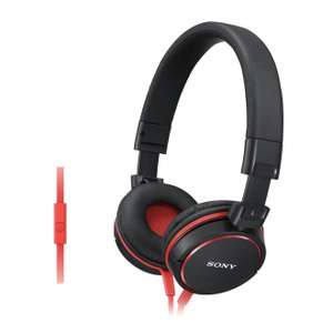 Casque Sony supra-aural  MDRZX610A - Noir/Rouge