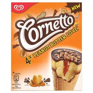 2 boites de glaces (8 cônes) Cornetto Peanut butter love (via BDR)