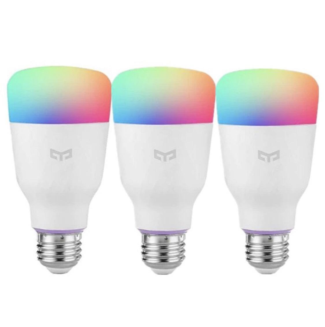 Lot de 3 ampoules Xiaomi Yeelight - E27, RGBW, 10 W (+ Jusqu'à 16,89€ en SuperPoints)